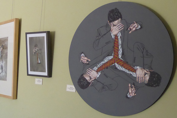 The art on the walls
